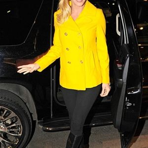 Old Navy Yellow Bus  Peacoat